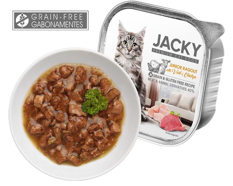 Jacky Premium Gabonamentes Ragu borjúval és szárnyassal 100g