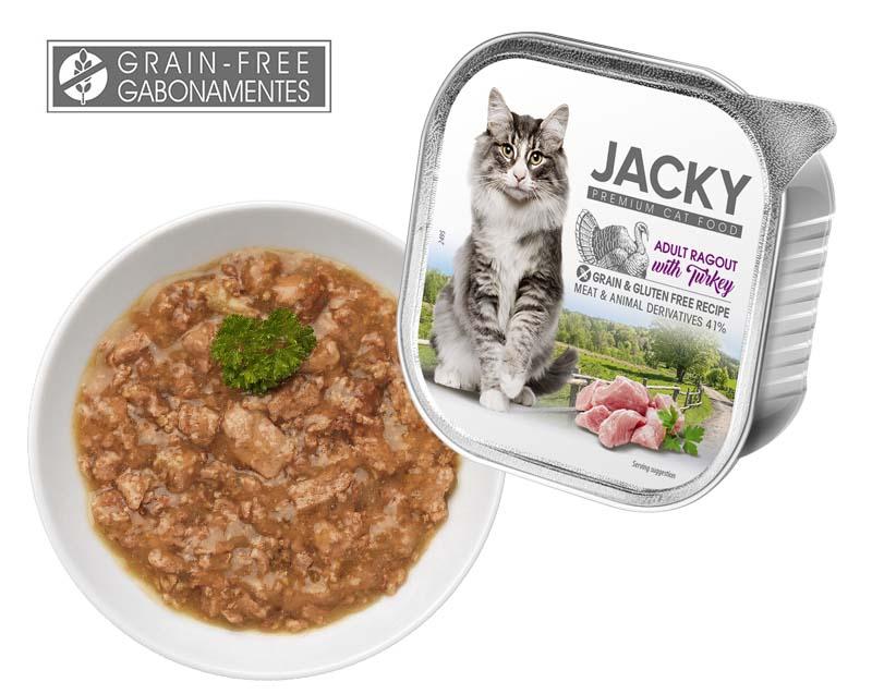 Jacky Premium Gabonamentes Ragu pulykával 100g